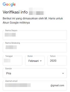 Cara buat akun gmail tanpa nomor hp