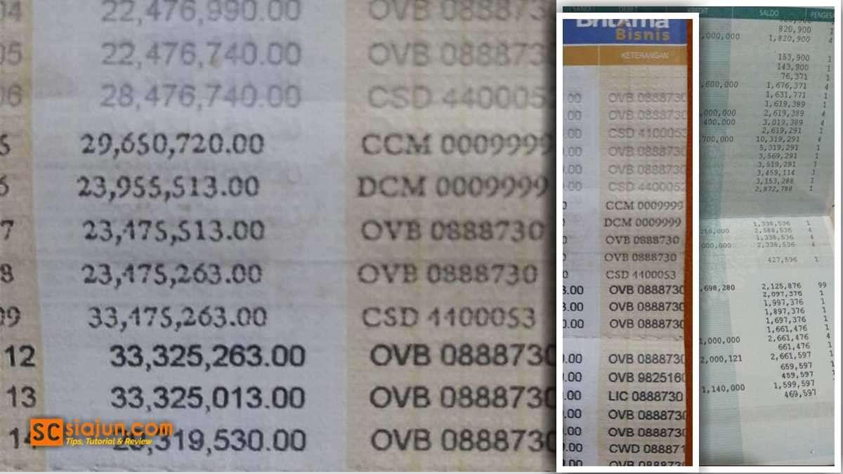 Kode Transaksi Buku Tabungan Bank Bri Dan Bni